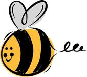 Free clipart of bumble bee.