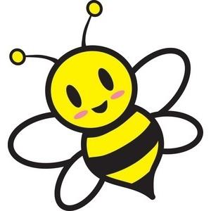 Bumble bees clip art.