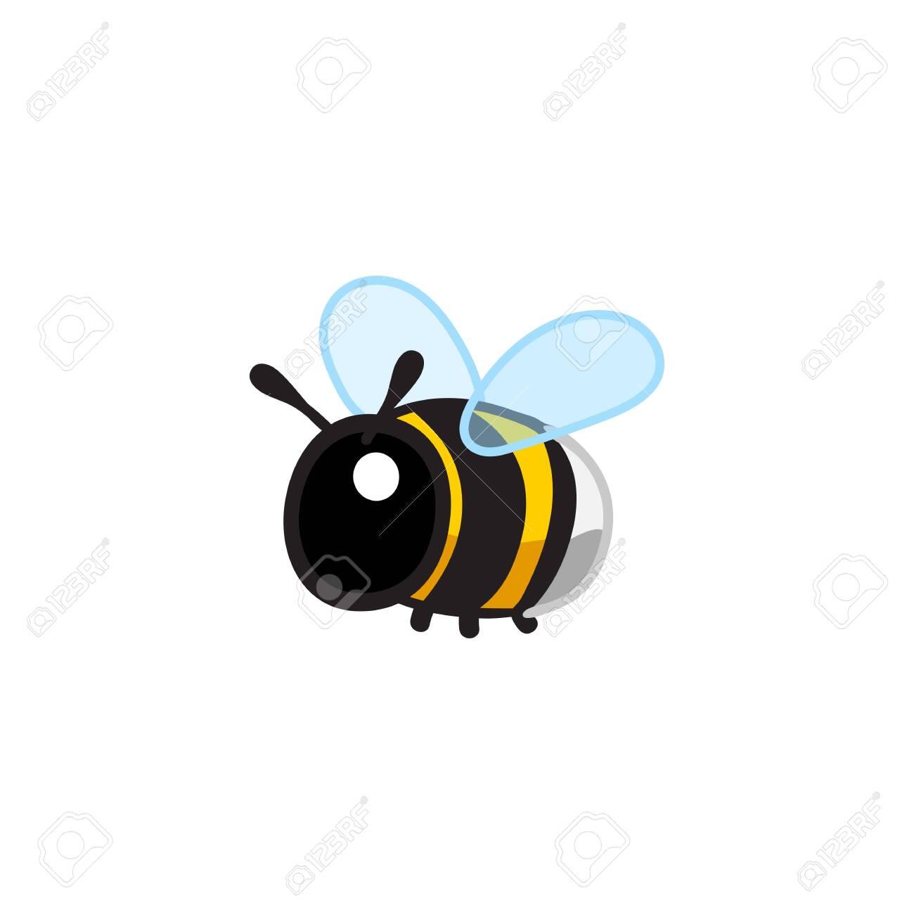 vector cute cartoon insect clip art bumblebee.