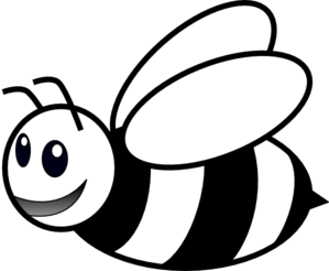 Bee Clipart Black And White.