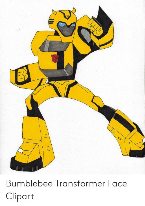 Bumblebee Transformer Face Clipart.