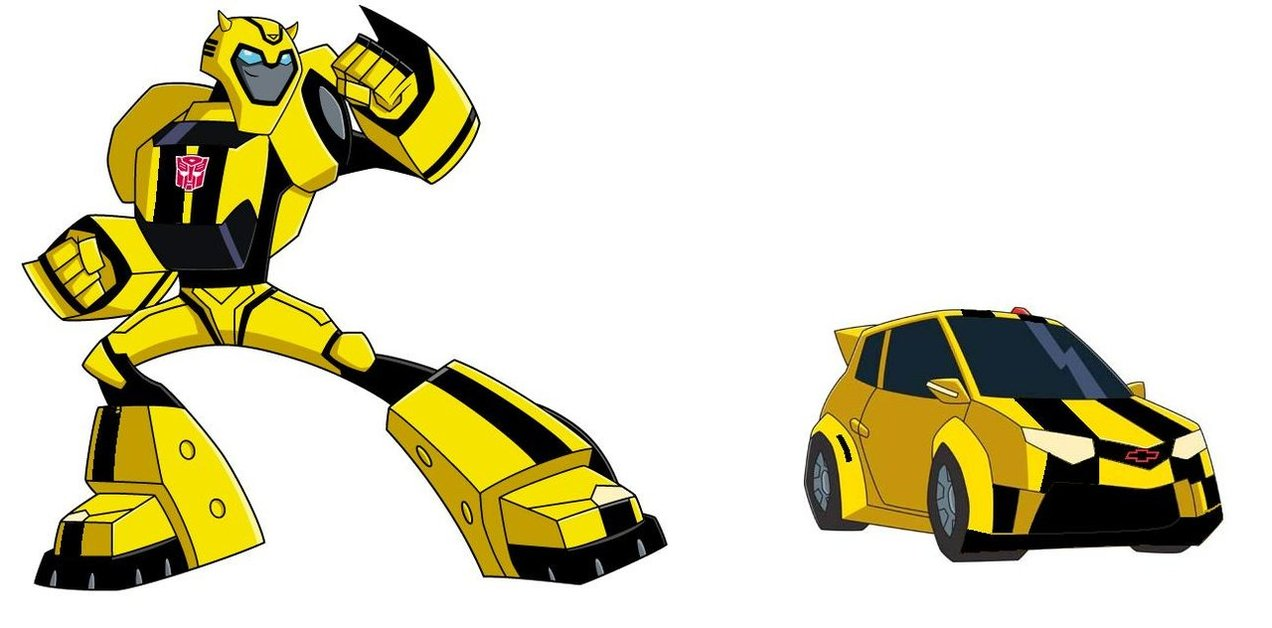 Bumblebee transformers clipart.