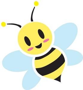 Cute cartoon bumble bees.