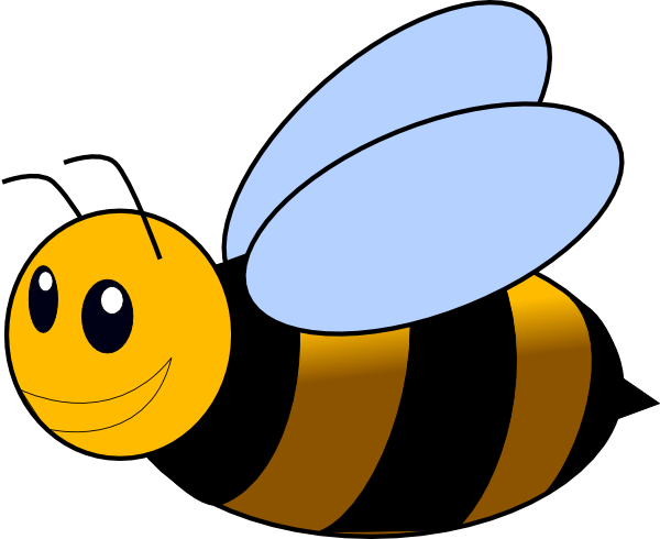 Bumble bees clipart.