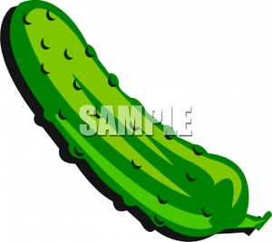 Art Image: A Green and Bumpy Pickle.