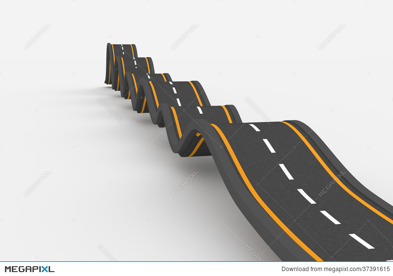 Bumpy road clipart.