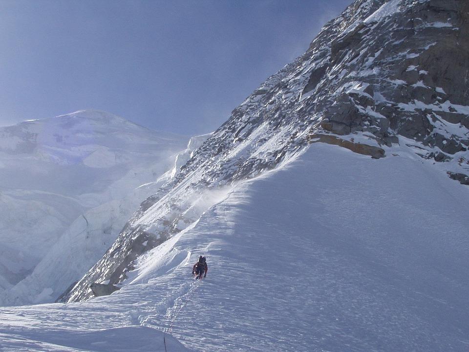 Free photo Piz Palu North Wall Alpine Bumiller Pillar.