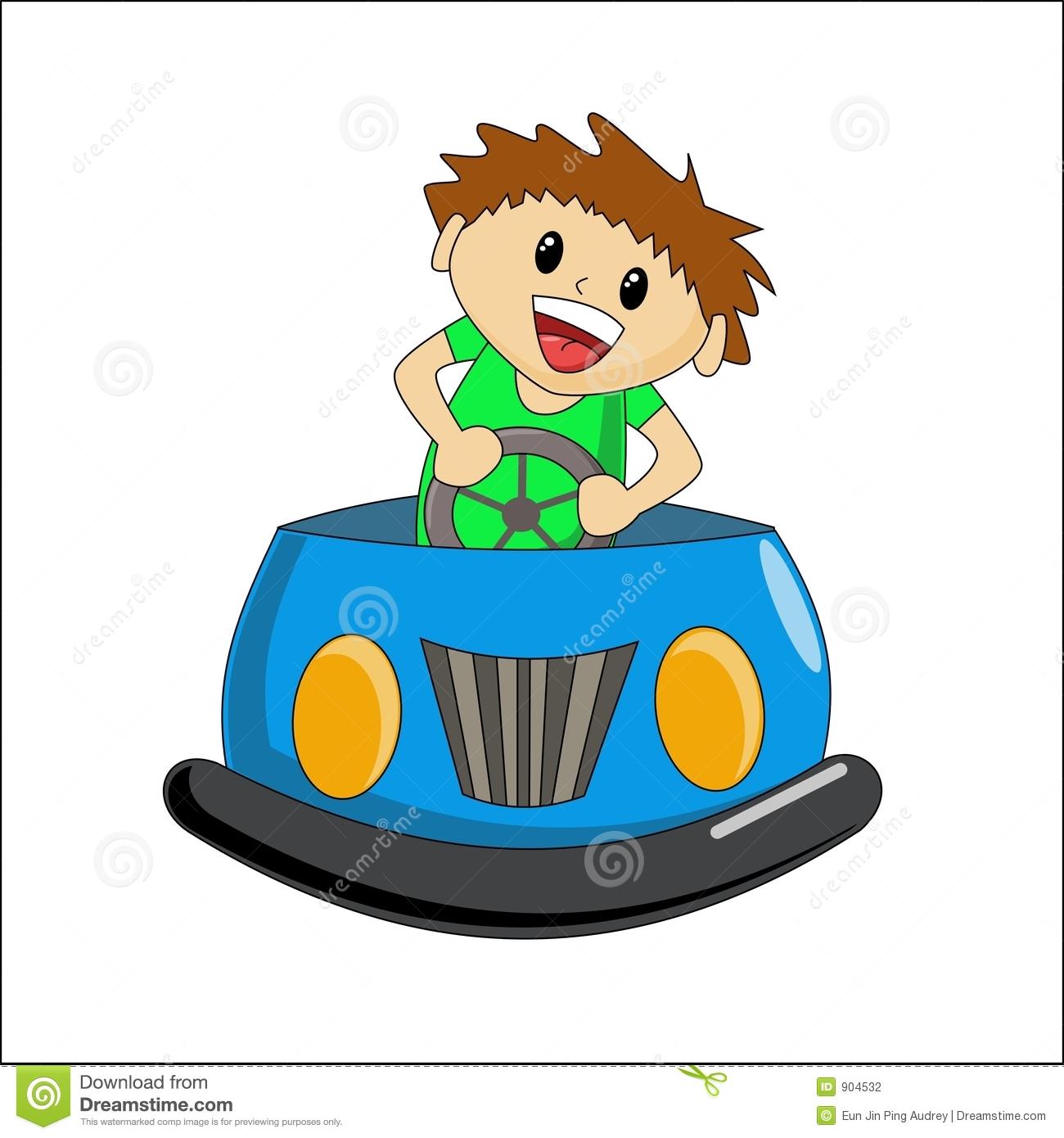 Bumper car clipart.