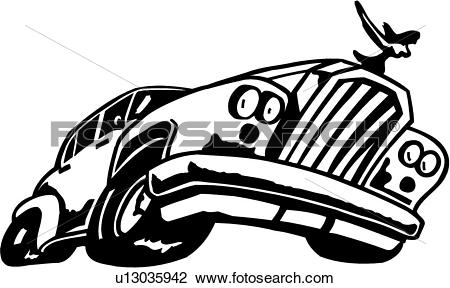 Clipart of , auto, automobile, bumper, car, cartoon, collector.