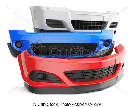 Clip Art of Car bumpers.