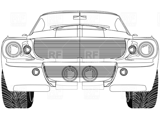 Sport car front view Vector Image #4073.
