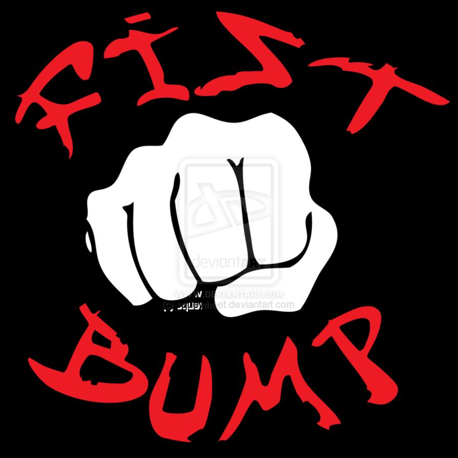 Fist bump clipart.