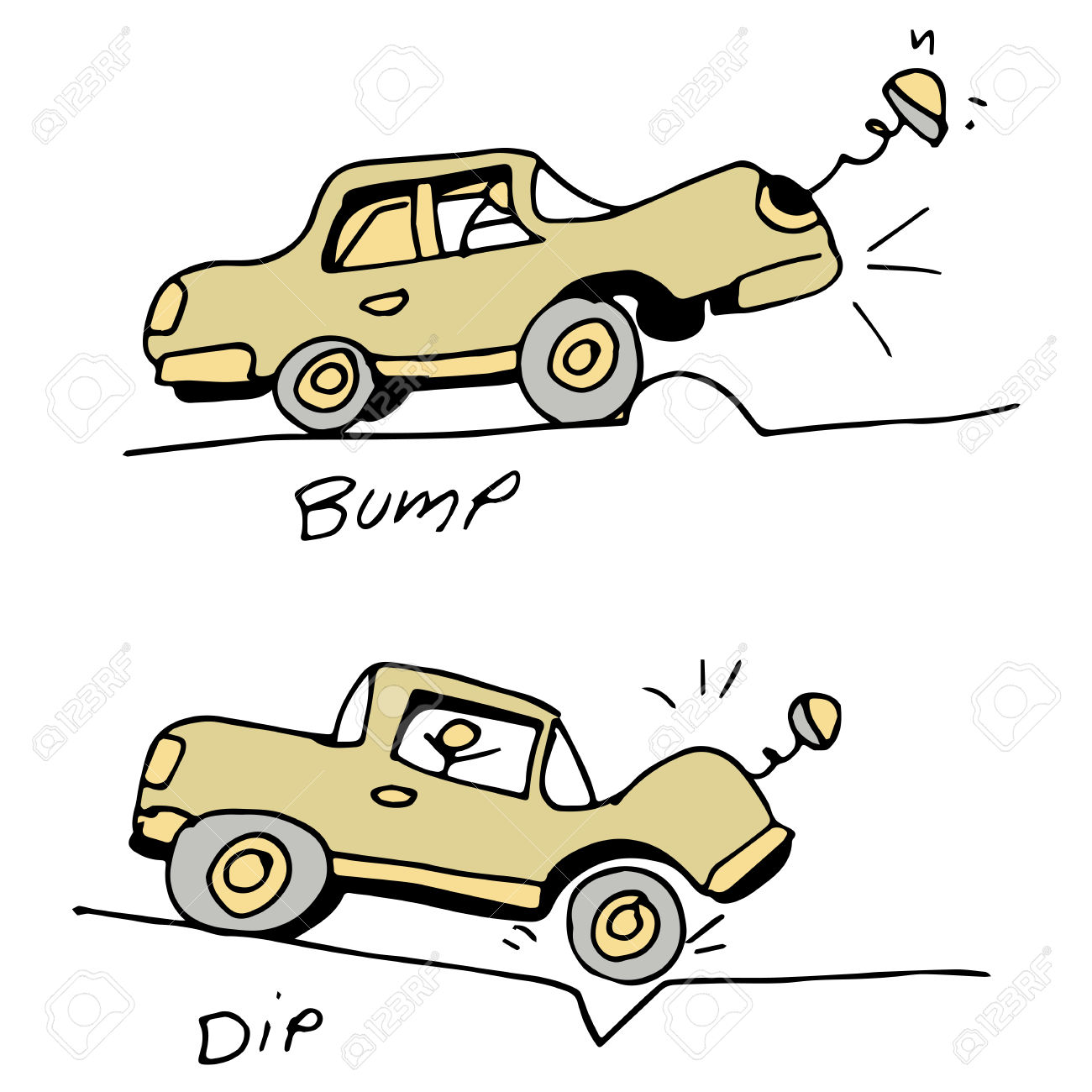 Bumps In The Road Clipart.