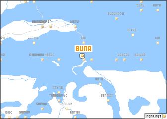 Buna (Papua New Guinea) map.