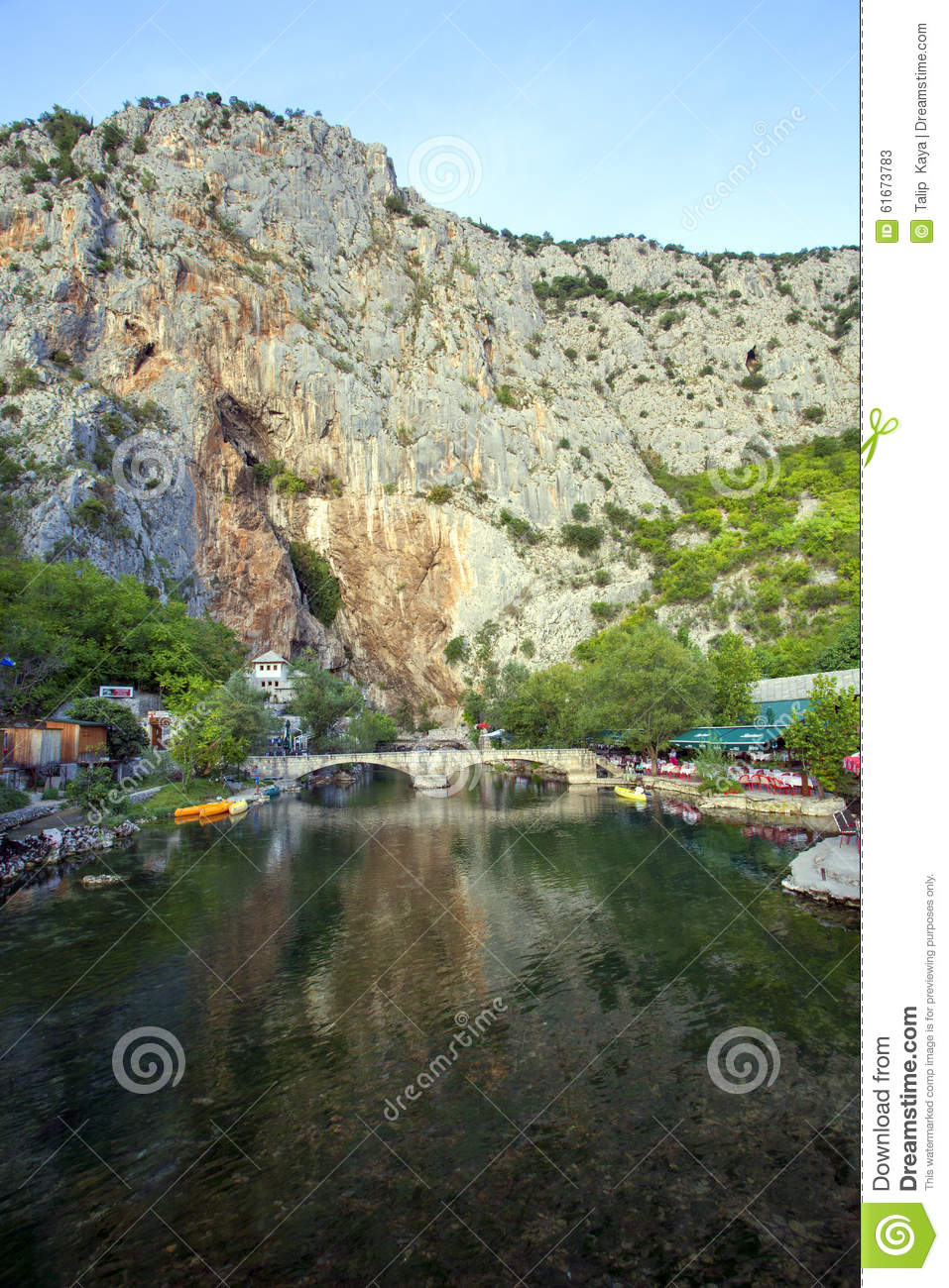 Buna The Largest River Source In Europe Stock Photo.