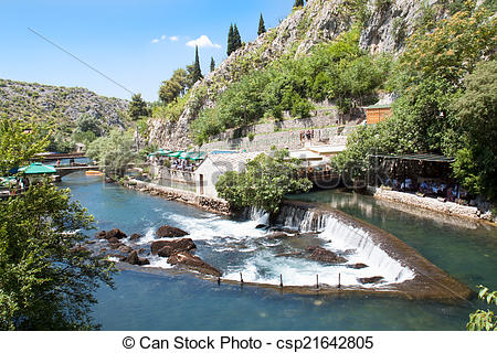 Stock Photography of Source of the Buna river near Mostar.
