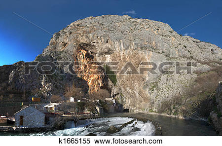 Stock Image of Panorama of Buna River Source k1665155.
