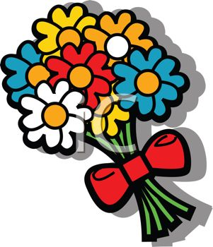 Clipart bunch of flowers.