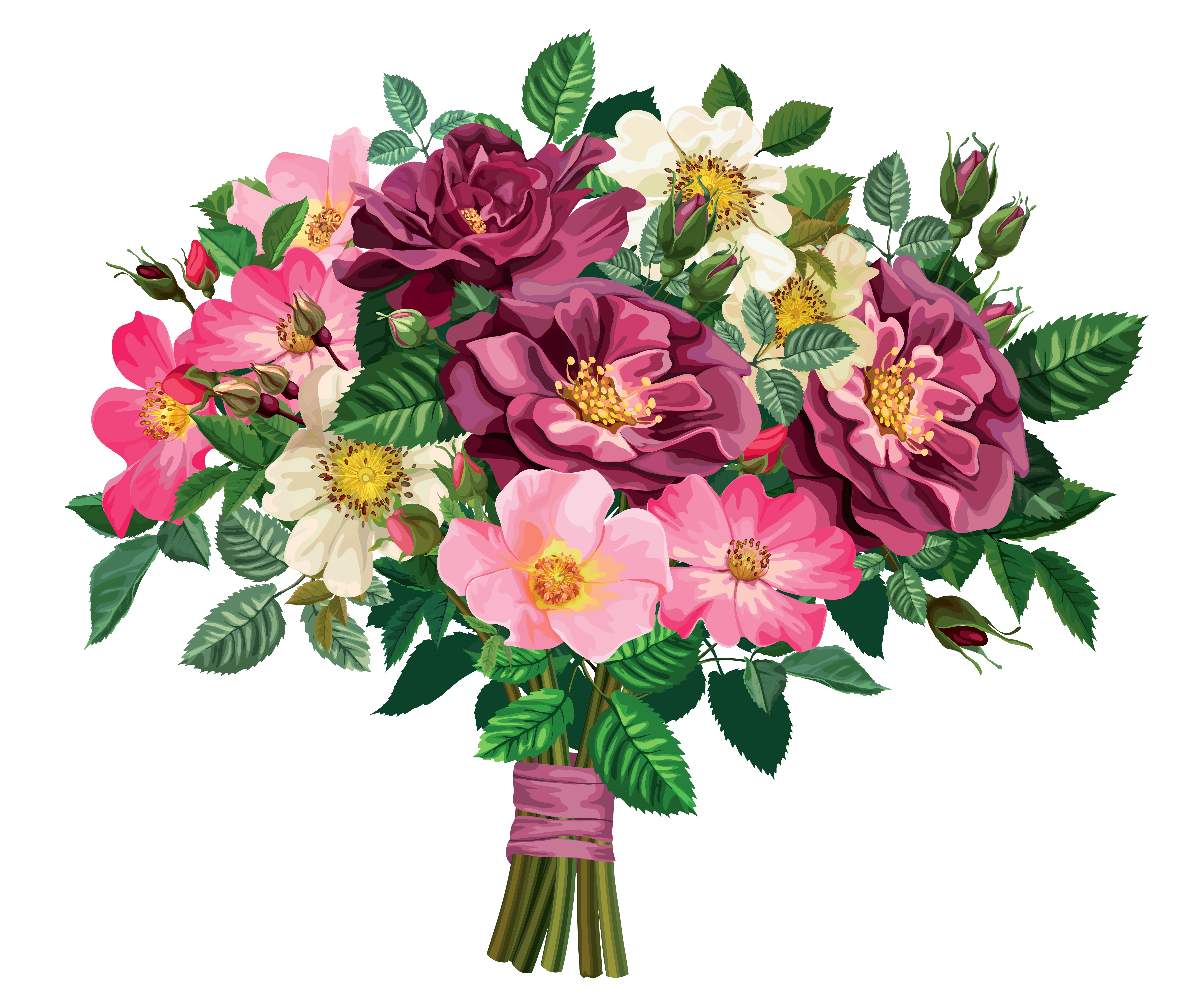 Flower bunch clipart.