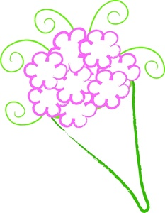 Bunch Of Flowers Clipart.