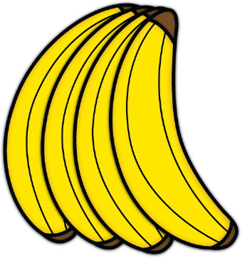 Bunch of bananas clip art.