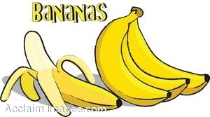 Clip Art of a Bunch of Bananas.