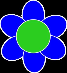 Blue clipart flower.