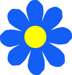 Bunch of blue flowers clipart - Clipground