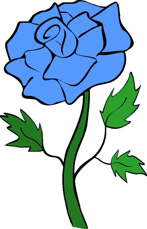 Blue roses clip art.