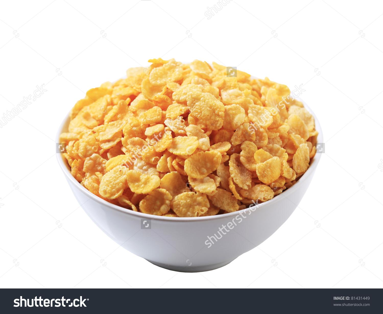Bowl Corn Flakes Stock Photo 81431449.