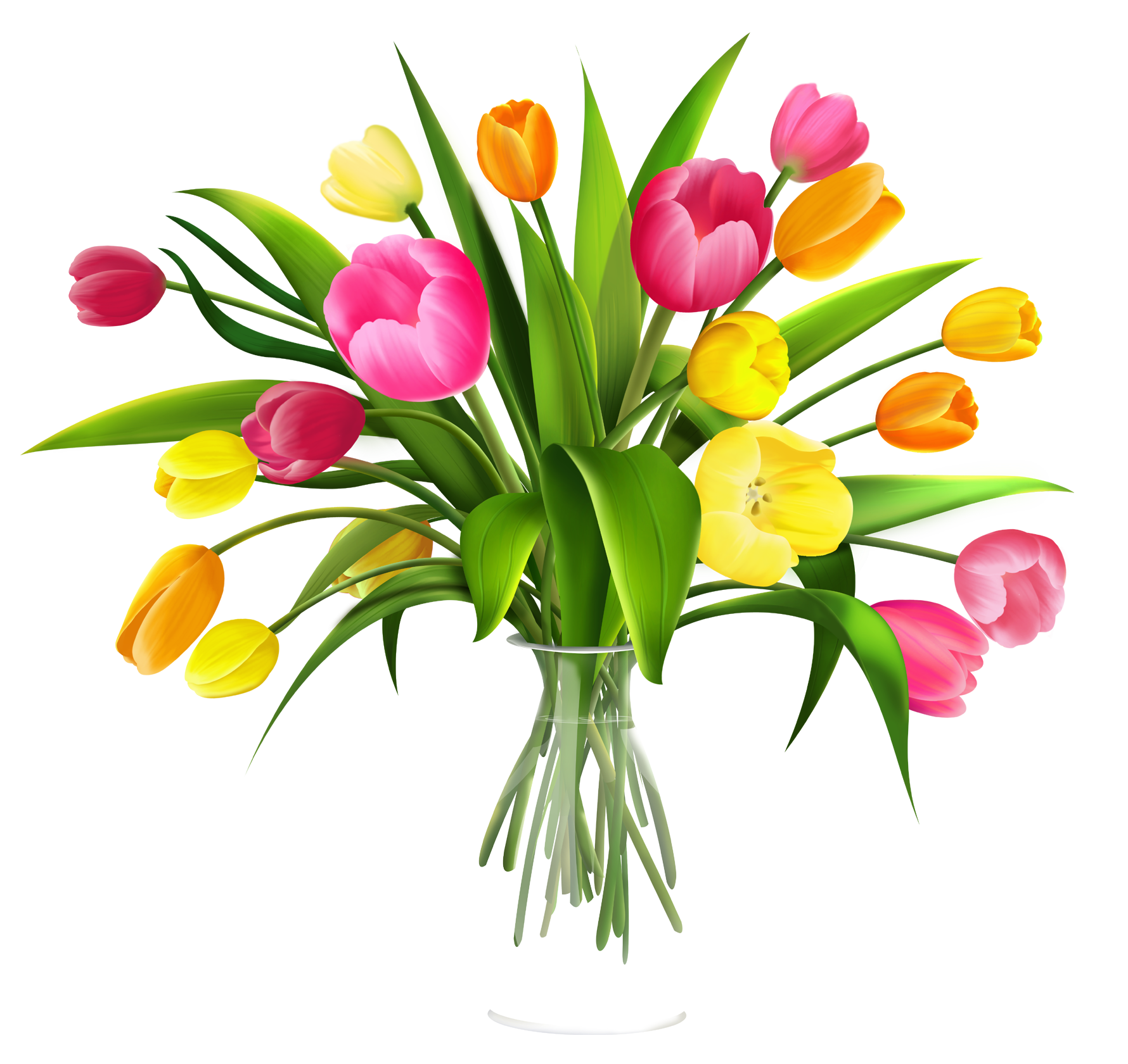 Bouquet Of Flowers In Vase Clip Art.