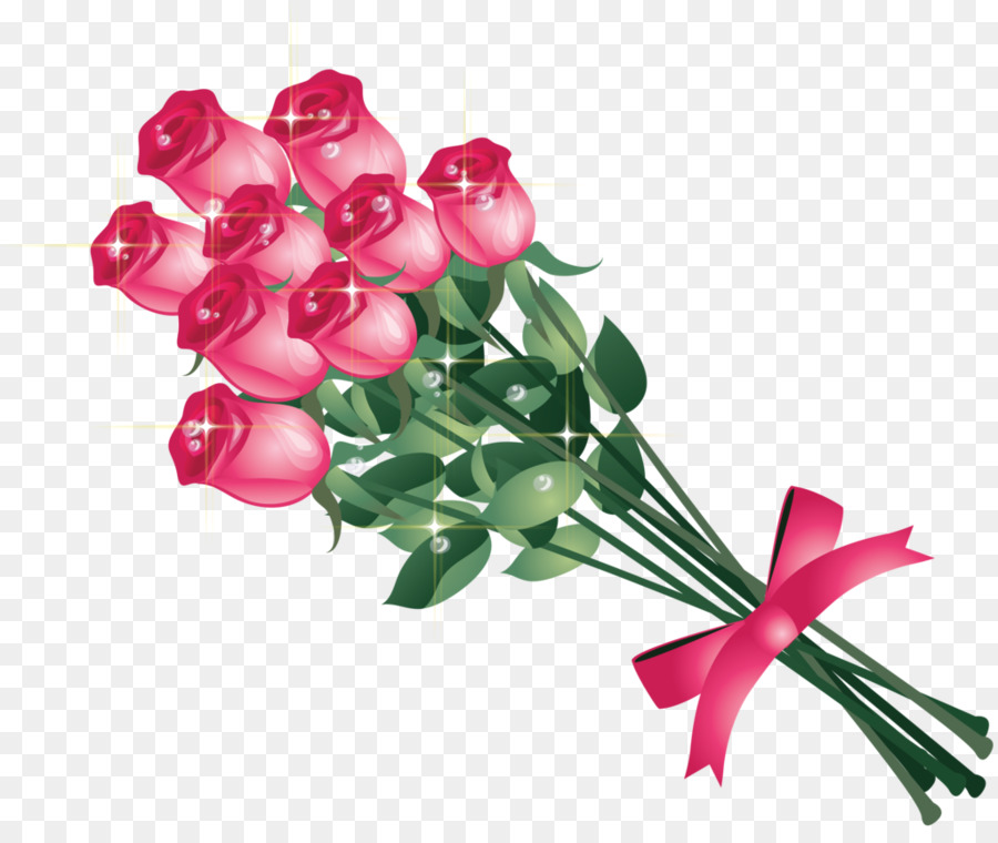 Bouquet Of Flowers Drawing png download.
