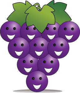 Bunch of grapes clipart.