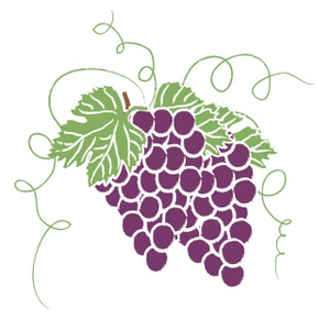 Clipart bunch of grapes.