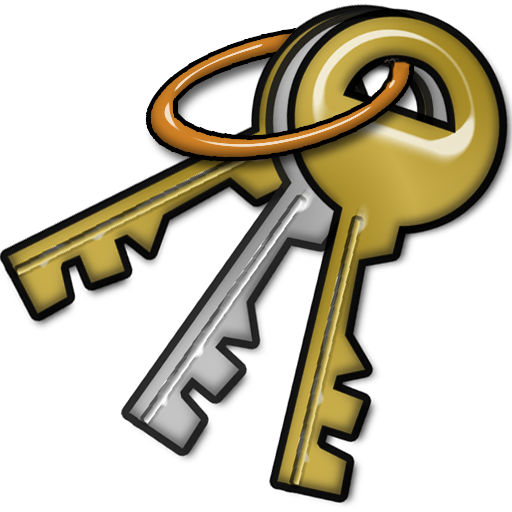 Bunch of keys clipart.