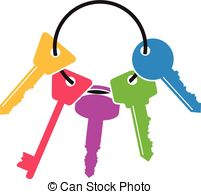 Bunch of keys clip art.