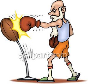 Clipart punching man.