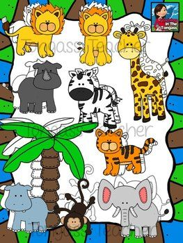 Jungle Clipart Bundle.