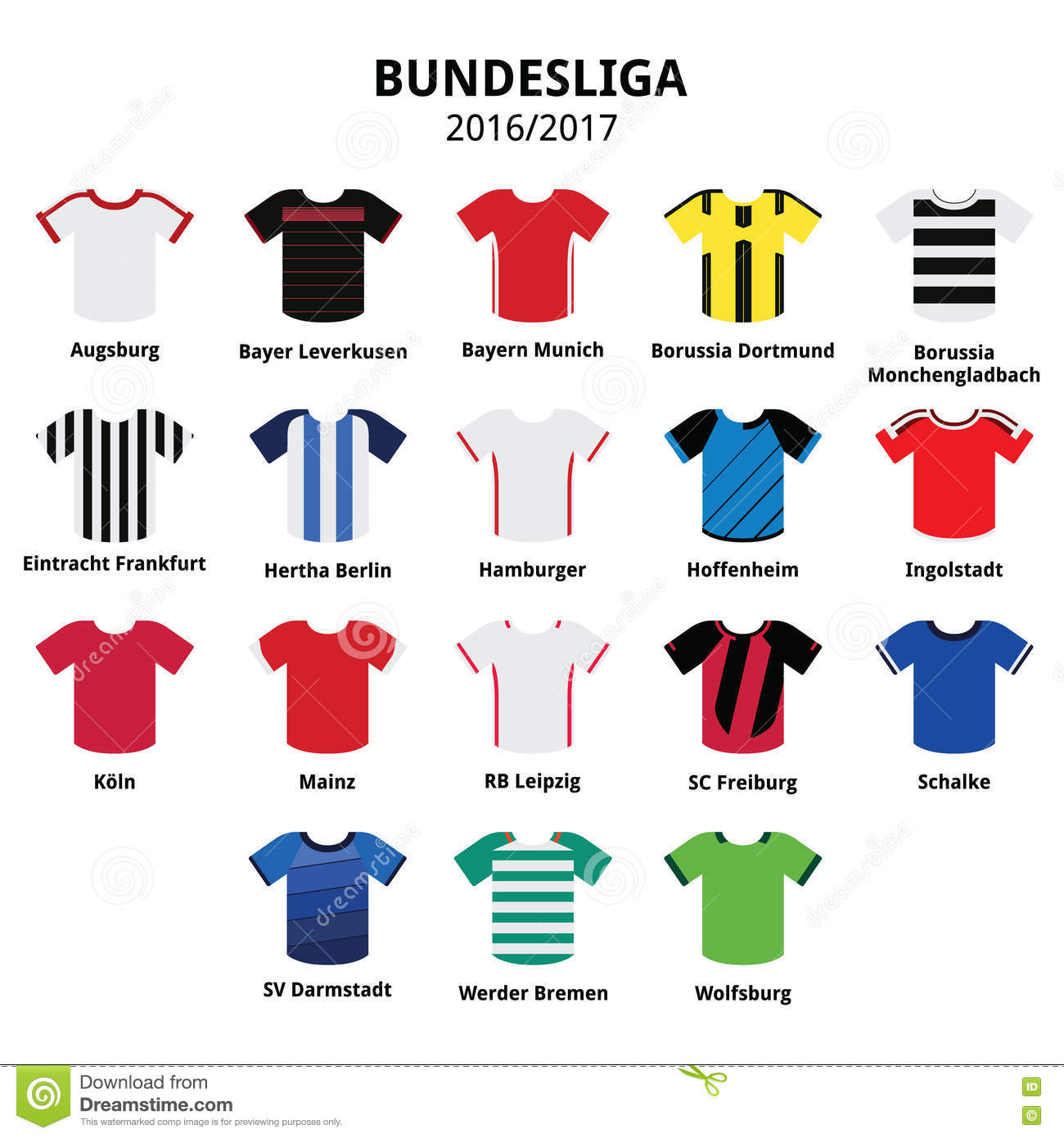 Bundesliga Jerseys 2016.