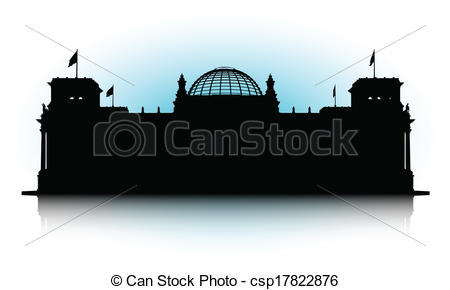 Vectors Illustration of Reichstag.