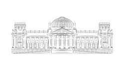 Bundestag Stock Illustrations.