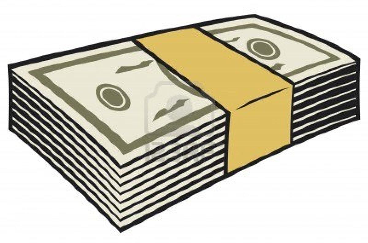 Bundle of money clipart.