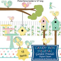Four Storks Bundle Of Joy clipart, for the new baby by Candy Box.