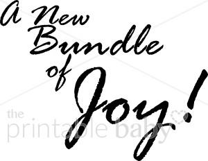 Bundle of Joy Wordart.