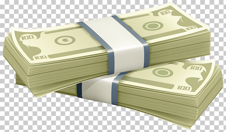 Money Currency , Wads of Money Transparent , two bundle of.