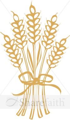 Clip Art Wheat Bundles Clipart.