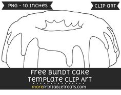 bundt cake silhouette clipart black and white #18