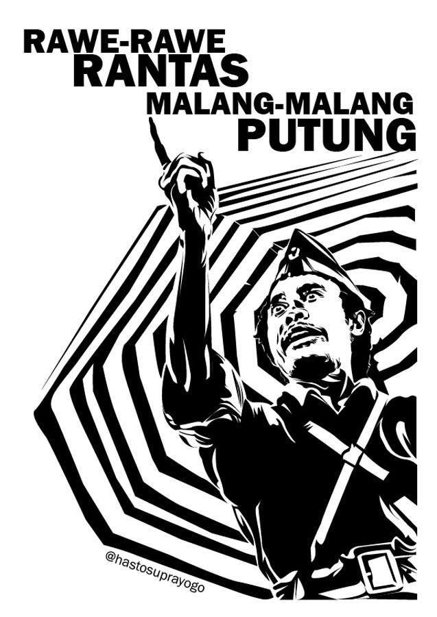 Vector illustration of Sutomo a.k.a Bung Tomo, a.