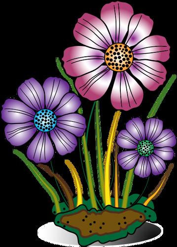 Clipart bunga vektor.