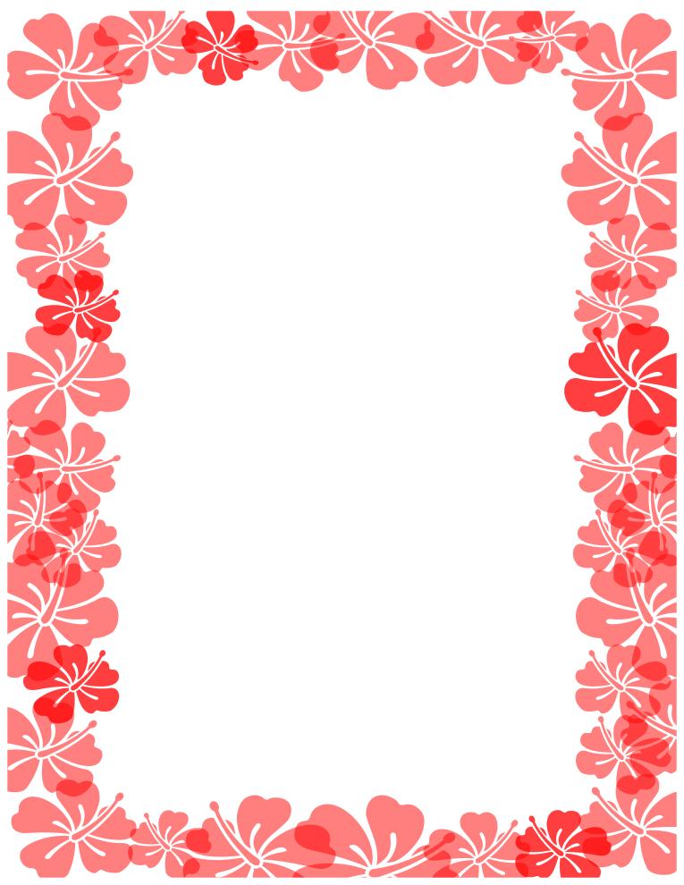 Rose Flower Borders.